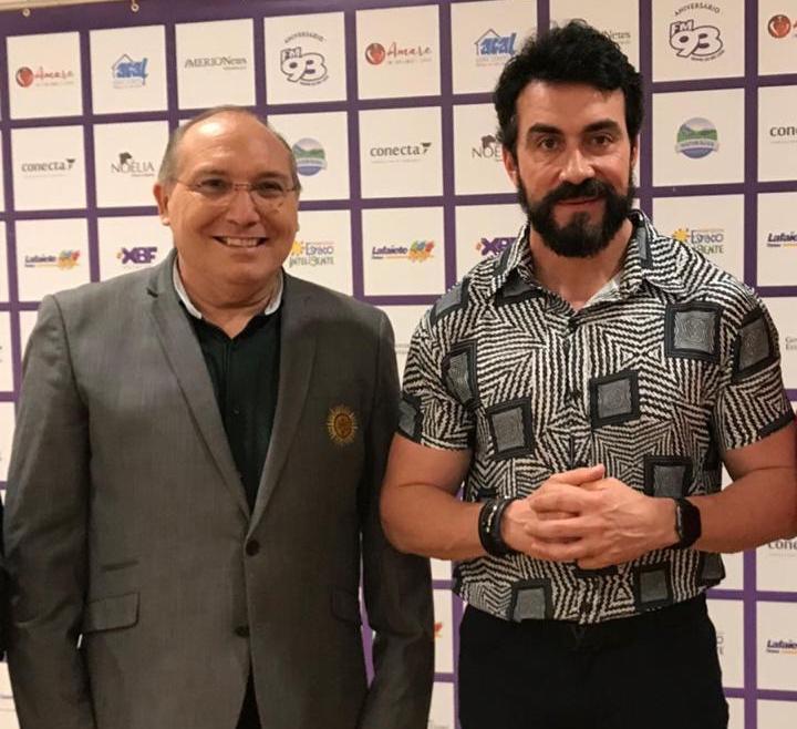 Pe Eugênio Pacelli recebe Padre Fábio de Melo em show beneficente no CFO