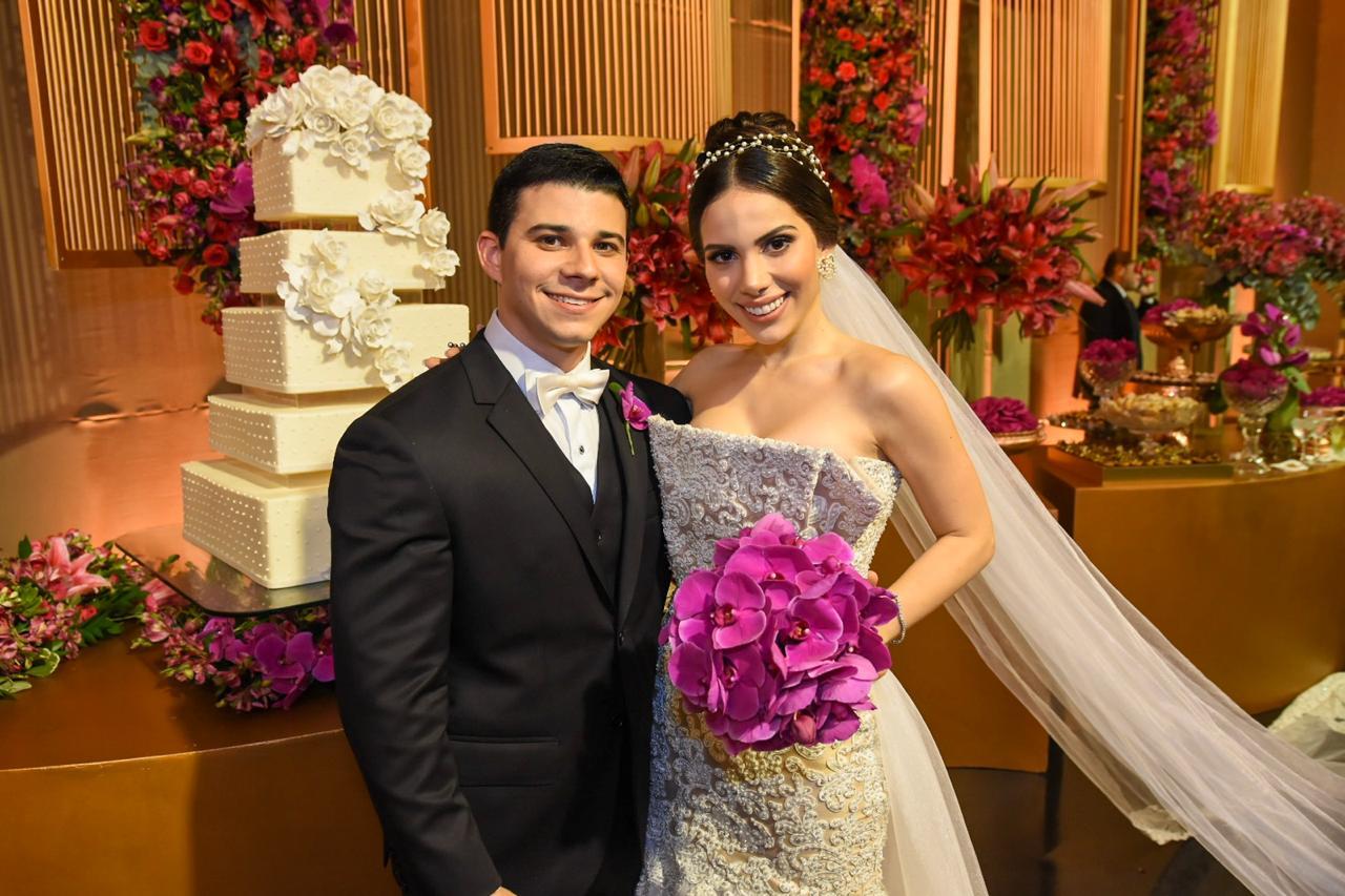 Marilza Pessoa deixou sua assinatura na festa de casamento de Nicole Vasconcelos e Pedro Paulo