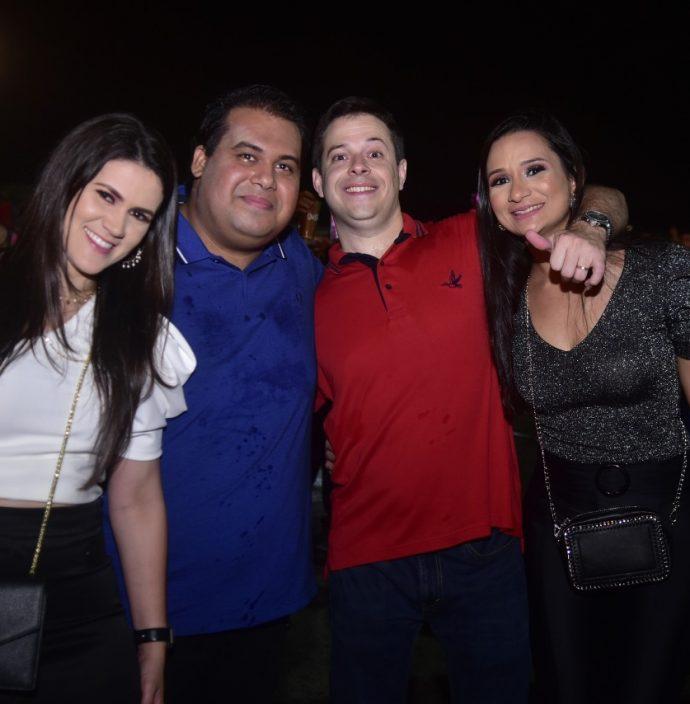 Nathalie Cordeiro, Jason Pereira, Dorneles e  Rafaelle Costa