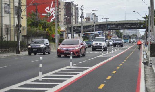 Novo binário da Avenida Santos Dumont liberado para os usuários
