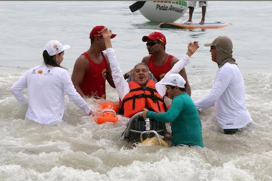 Programa da Praia Acessível vence prêmio nacional do MTur