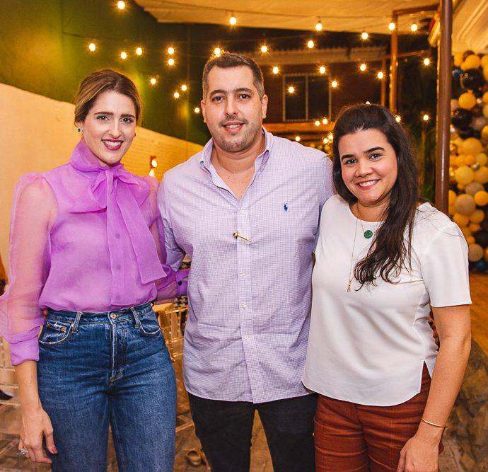 Rebeca Bastos, Thiago Leal E Priscila Leal