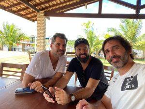Antônio De Lá Rua (grupo Nômade), Daniel Nepomuceno (sec. Executivo Do Mtur) E Lucas Fiuza (coordenador Geral De Atração De Investimentos)