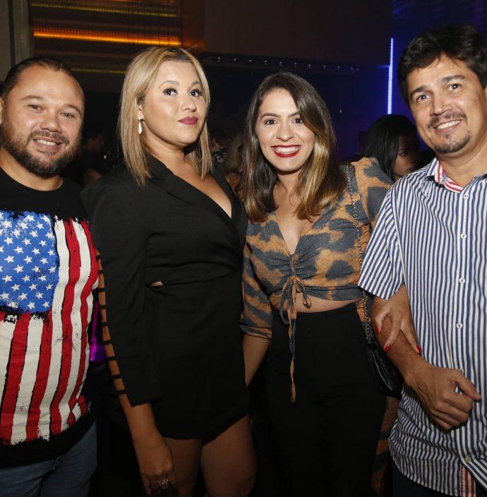 Augusto Souza, Paula Ferreira, Anne Noleto e Etenne Hugo