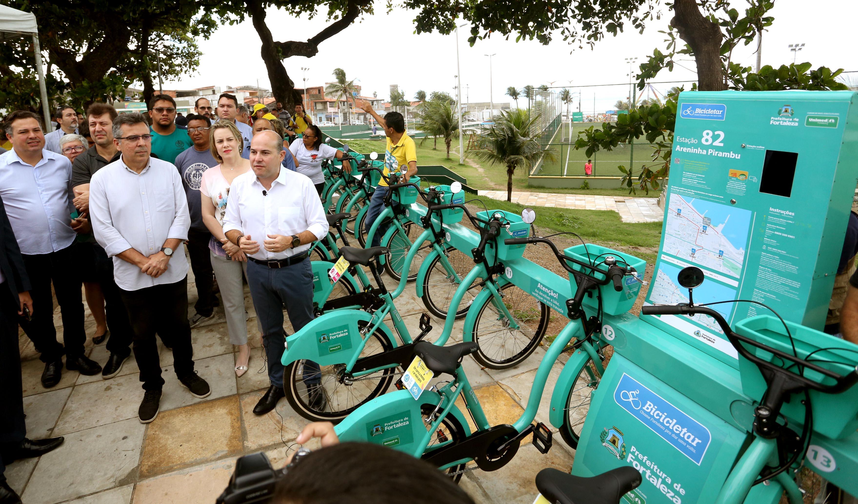 Roberto Claudio pisa no acelerador e garante 210 estações do Bicicletar até o final da gestão