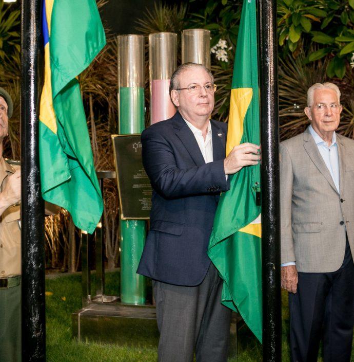 Gen Cunha Mattos, Ricardo Cavalcante e Carlos Prado