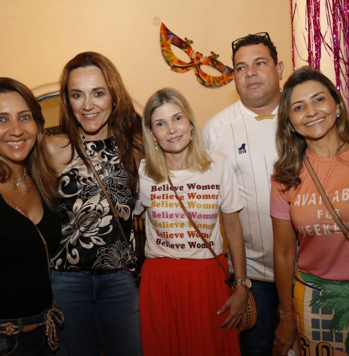 Georgia Catunda, Suyane Gomes, Luciana Marrocos, Fabio Menezes E Luciana Catunda