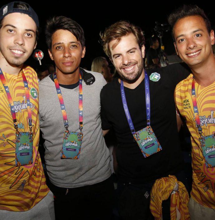 Lucas Farias, Alan Santos, Cláudio Nelson e Lucas Veras - Foto: Portal IN
