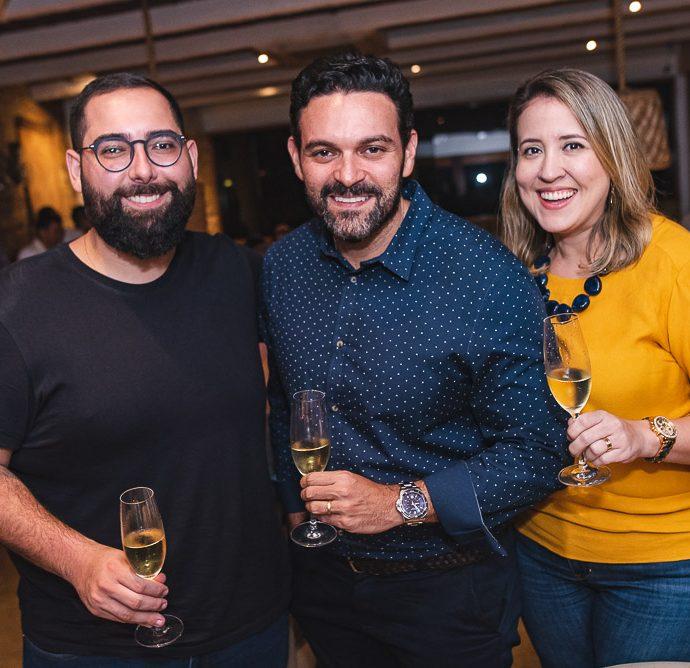 Luiz Victor Torres, Clóvis Holanda e Izaqueline Ribeiro
