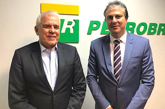 Camilo Santana reúne-se com presidente da Petrobras, no Rio