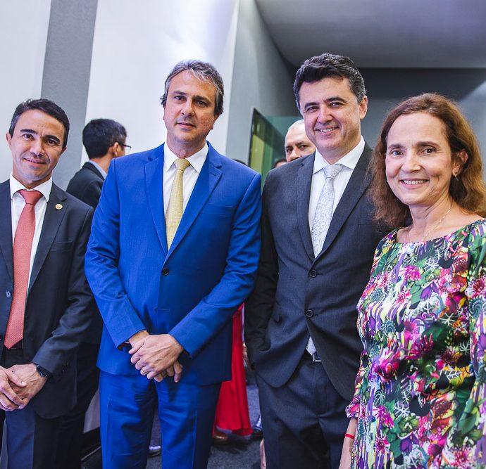 Placido Rios, Camilo Santana, Manuel Pinheiro e Izolda Cela