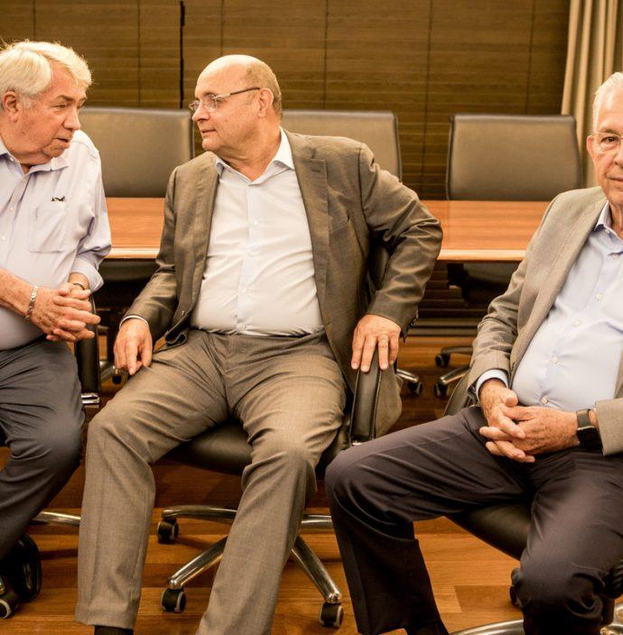 Roberto Macedo, Fernando Cirino Gurgel e Carlos Prado