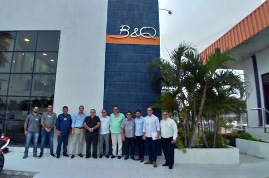 Empresários visitam o projeto elétrico do Guaiúba Chemical Park
