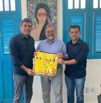 Alexandre Pereira e Erick Vasconcelos recebem a visita do Embaixador da Ucrânia, Osvaldo Biato