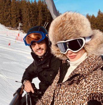 Karolina Stocklöw e Marcelo Quinderé aproveitam a temporada de neve em Courchevel