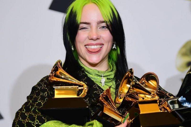 Billie Eilish é a primeira mulher da história a vencer os principais prêmios do Grammy
