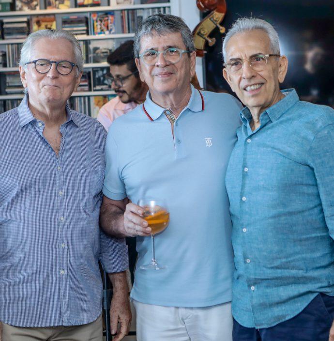 Carlos Castelo Branco, Marcio Tavora E Paulo Ponte