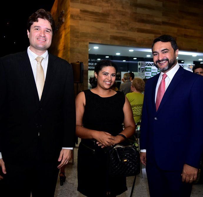 Fernando Laureano, Alexsandra Oliveira e Leonardo Bayma