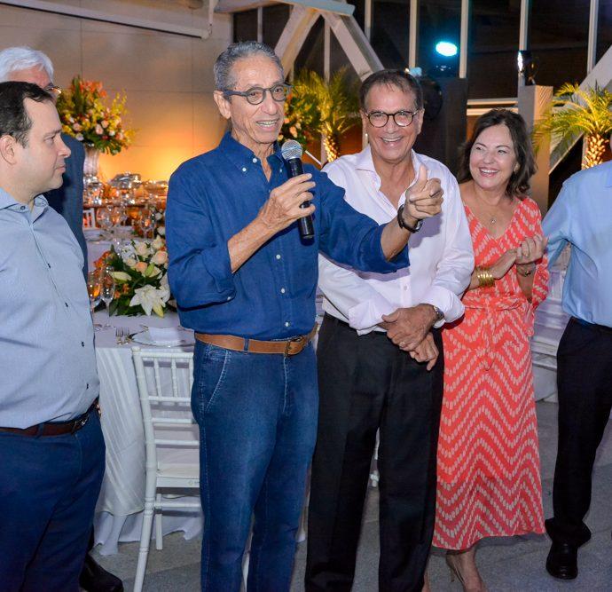 Igor Barroso, Francisco Falcão, Beto e Ana Maria Studart e Roberto Pessoa