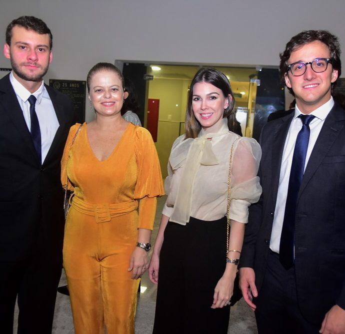 Pedro Diogenes, Luciana Costa, Carine Figueiredo e Igor Fernandes