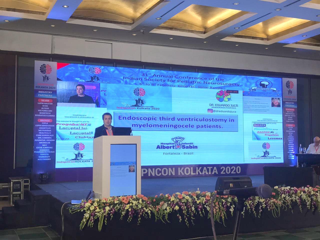 Eduardo Jucá marca presença em congresso indiano sobre Neurocirurgia Pediátrica