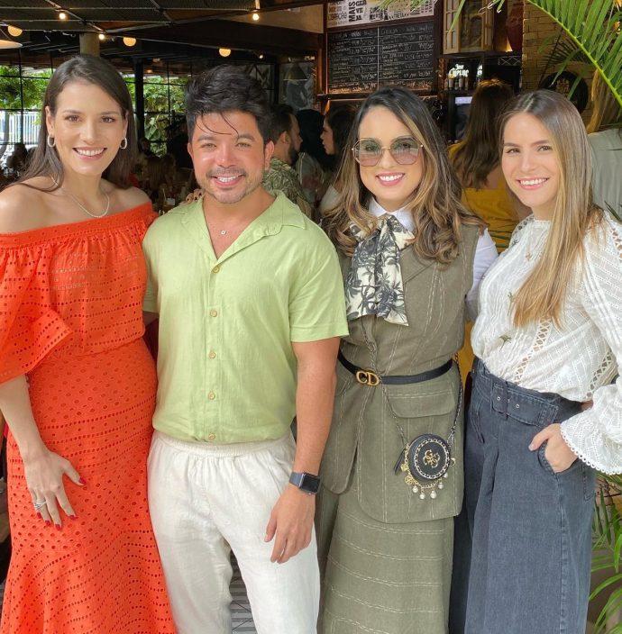 Sara Torquato, Rafael Gualberto, Marcella Medina e Lara Linhares