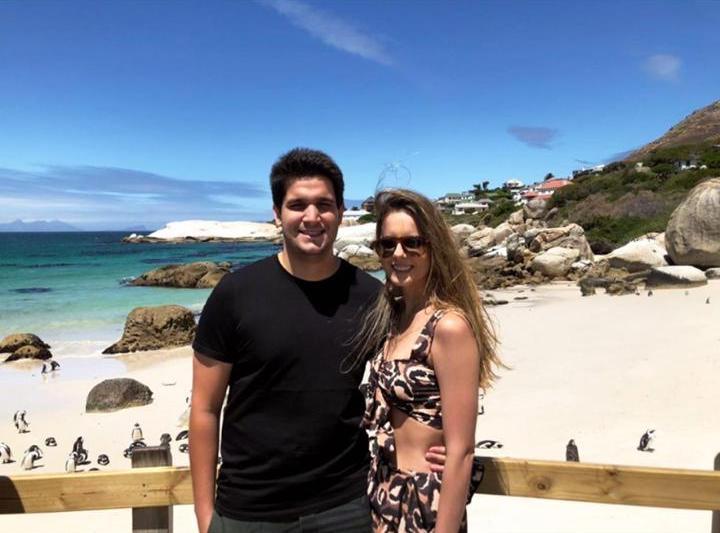Beatriz Gradvohl e Wagner Neto elegem a África do Sul para temporada de lua de mel