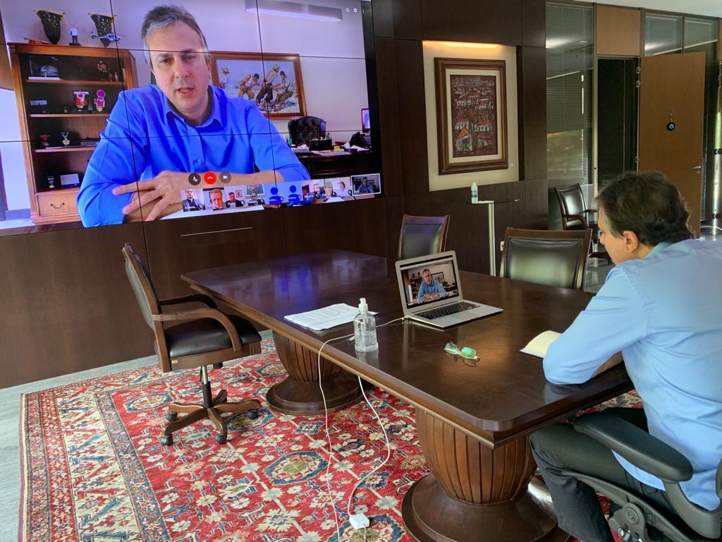 Governador Camilo Santana faz reunião virtual com governadores do Nordeste