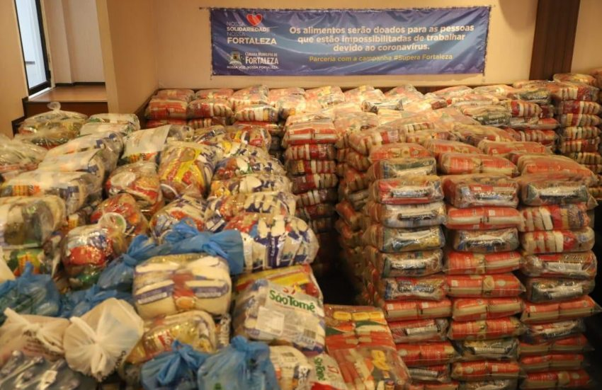 Campanha da CMFor já arrecadou 17 toneladas de alimentos para doação