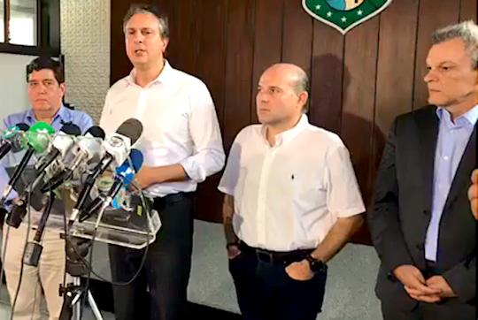 Governo do Ceará declara emergência; suspende aulas da rede pública, visitas em presídios e pretende paralisar pousos de  voos internacionais
