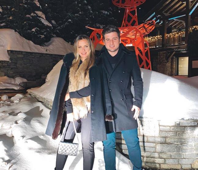 Fernanda Levy e Omar Macêdo aproveitam a temporada de neve e esqui em Courchevel