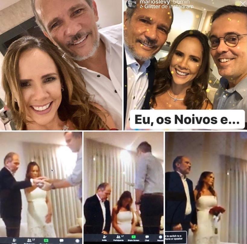 Revia Lima e Henrique Augusto realizam casamento virtual em meio a quarentena