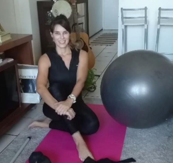 Lisandra Uttémpergher alerta sobre os cuidados com as atividades físicas online