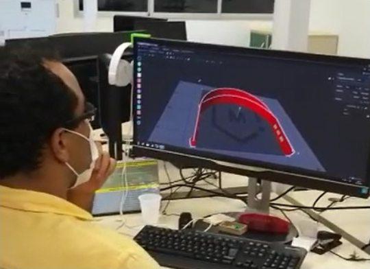 Senai produz máscaras faciais e cirúrgicas que serão doadas ao Governo do Ceará