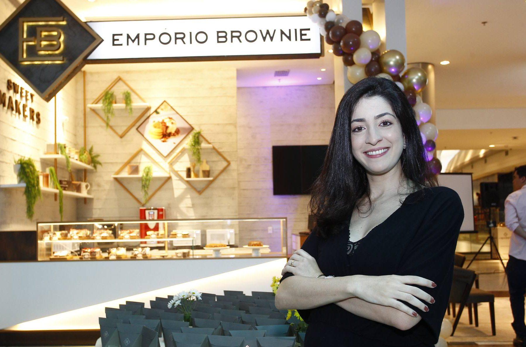 Mila Ary apresenta projeto de rebranding na loja Empório Brownie do Iguatemi