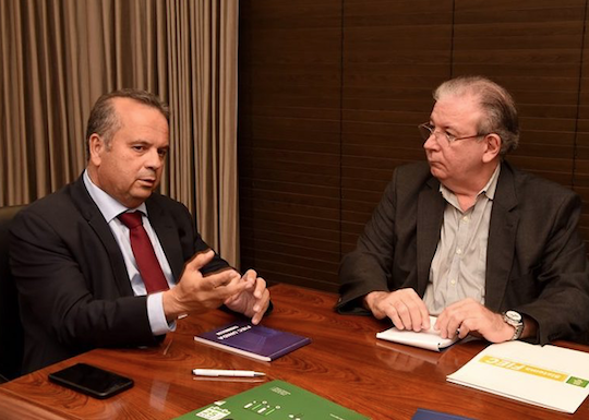 Ricardo Cavalcante recebe Rogério Marinho e apresenta as demandas da indústria cearense