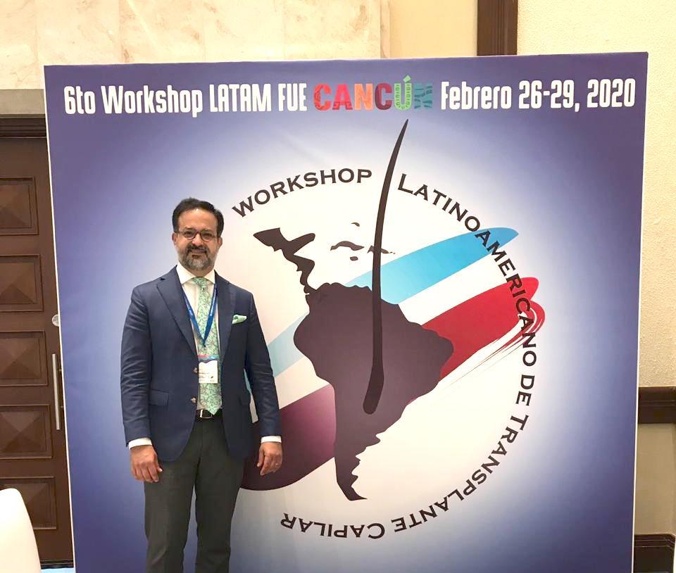 Márcio Crisóstomo marca presença em Workshop Latinoamericano de FUE no México