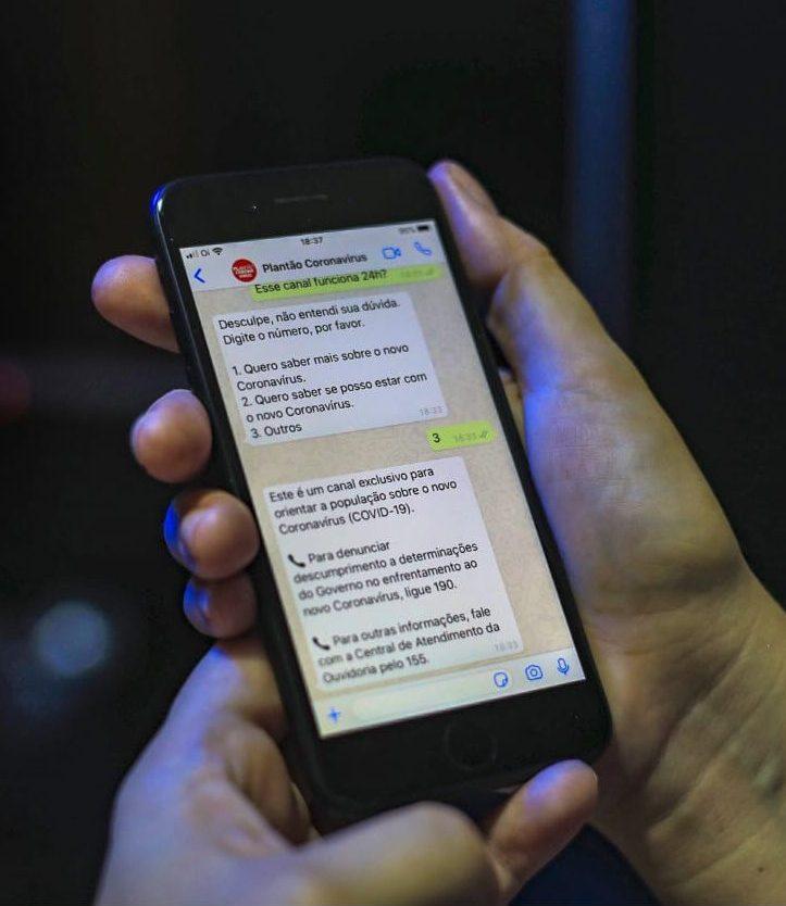 Ceará lança Plantão Coronavírus via Whatsapp para atender a população