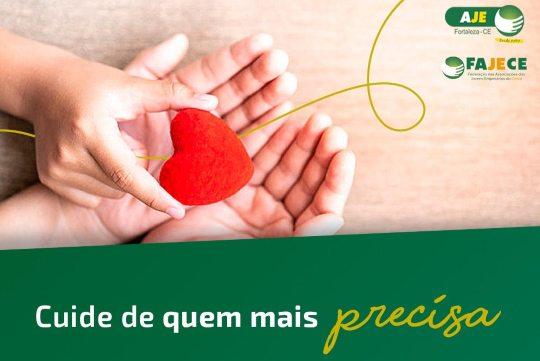 AJE Fortaleza lança campanha para auxiliar pessoas em grupos de risco