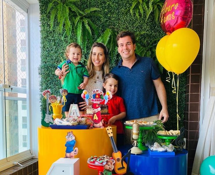 Tayra Romcy e Léo Aguiar celebram os 4 aninhos do primogênito Álvaro