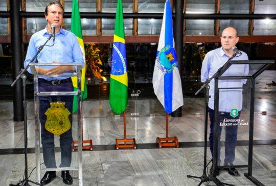 Camilo Santana e Roberto Cláudio dizem que Sobral e mais seis cidades terão o isolamento rígido a partir desta segunda
