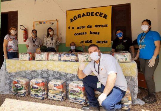 Aeris doa 60 toneladas de alimentos, além de 31 mil EPIs nesta quarentena
