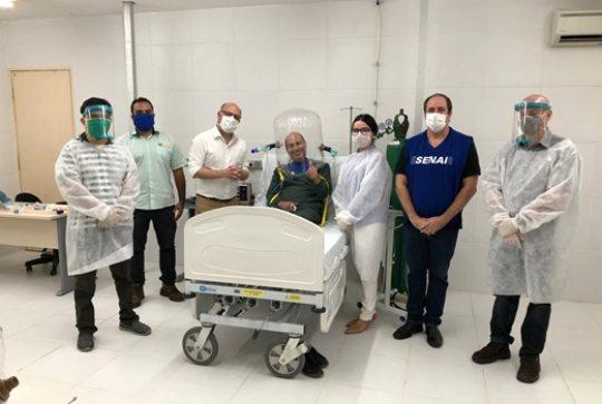 Força-tarefa desenvolve capacete de ventilação assistida no Senai Ceará