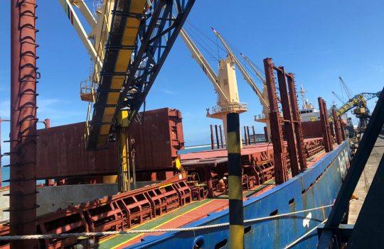 Porto de Fortaleza tem alta de 22,5% na movimentação de granéis sólidos