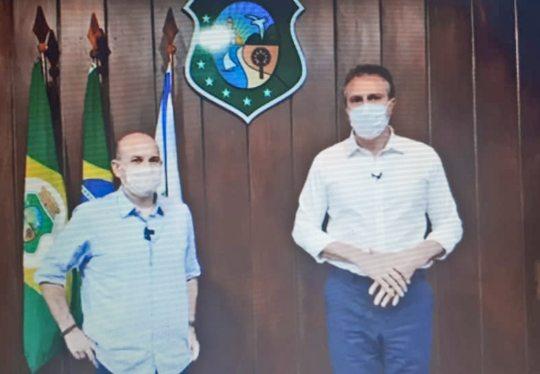 Camilo e Roberto Cláudio prorrogam decreto de isolamento rígido na Capital