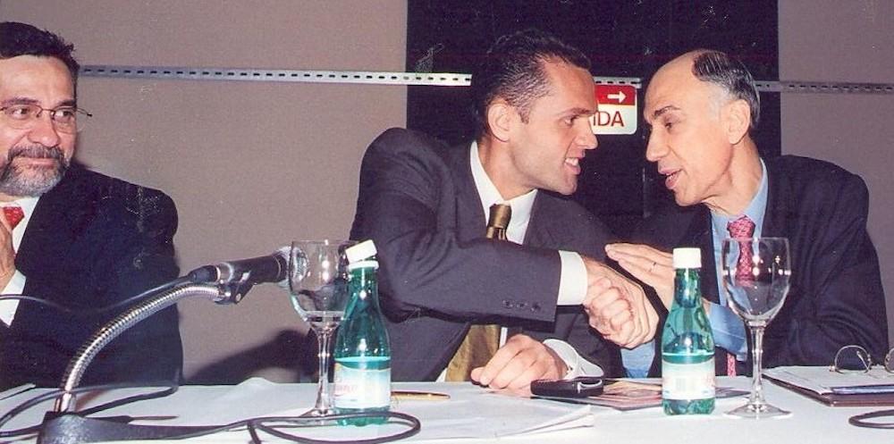 2001 Com O Vice Presidente Marco Maciel E O Ministro Do Planejamento, Martus Tavares, No Congresso De Jovens Empresários, Em Brasília, Df