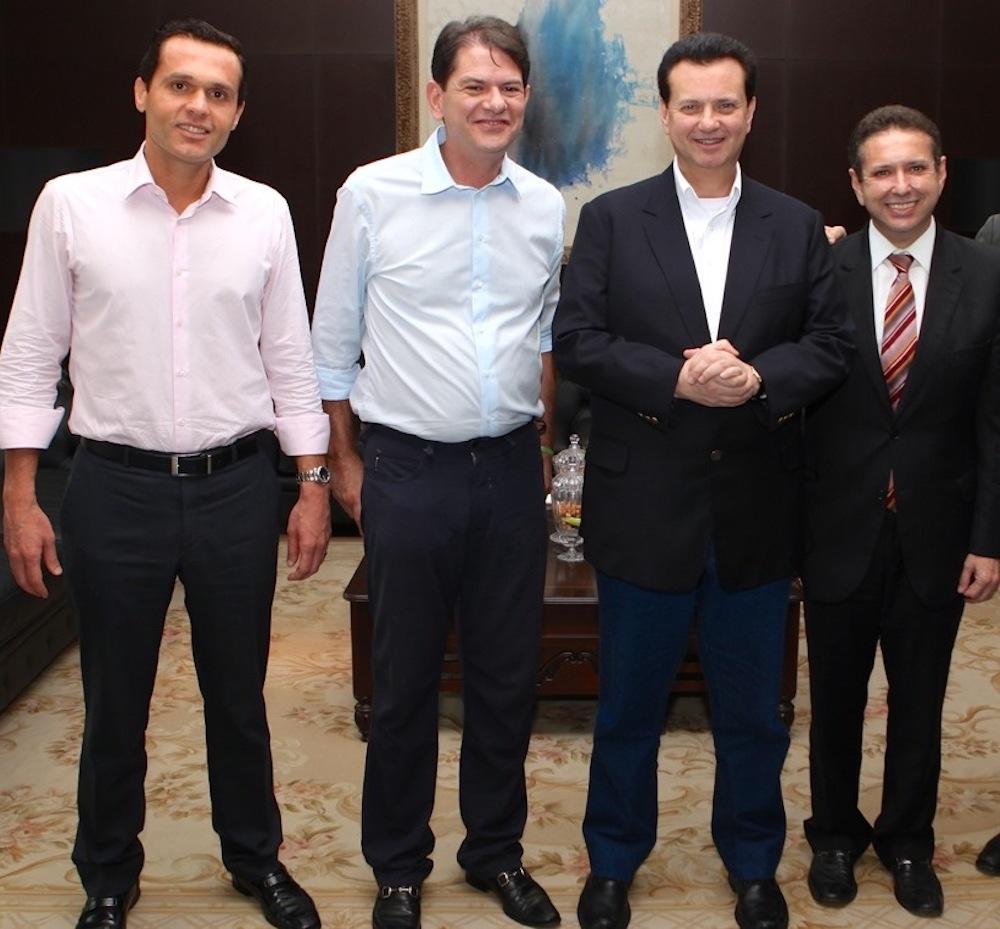 2012 Com Os Então Governador E Vice Governador Cid Gomes E Domingos Filho, Em Almoço Oferecido No Gabinete Do Governador Ao Então Prefeito De São Paulo Gilberto Kassab