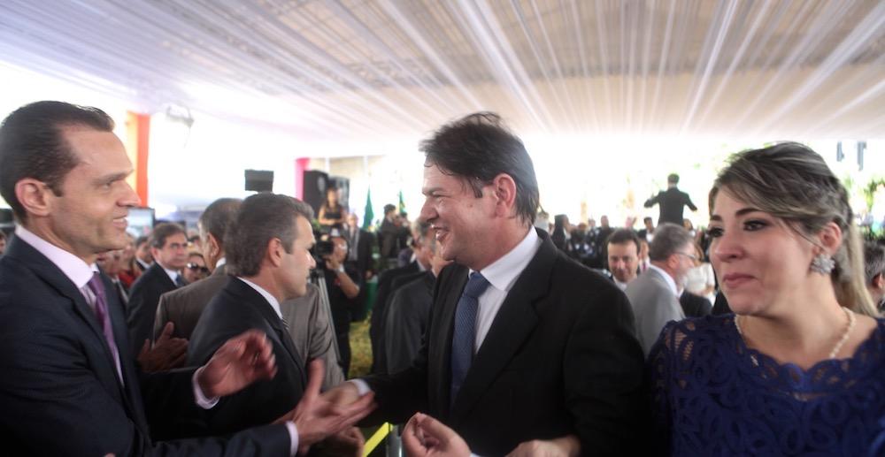 2015 Na Posse Do Governador Camilo Santana, Com Os Saintes Governador Cid Gomes E Primeira Dama Maria Célia