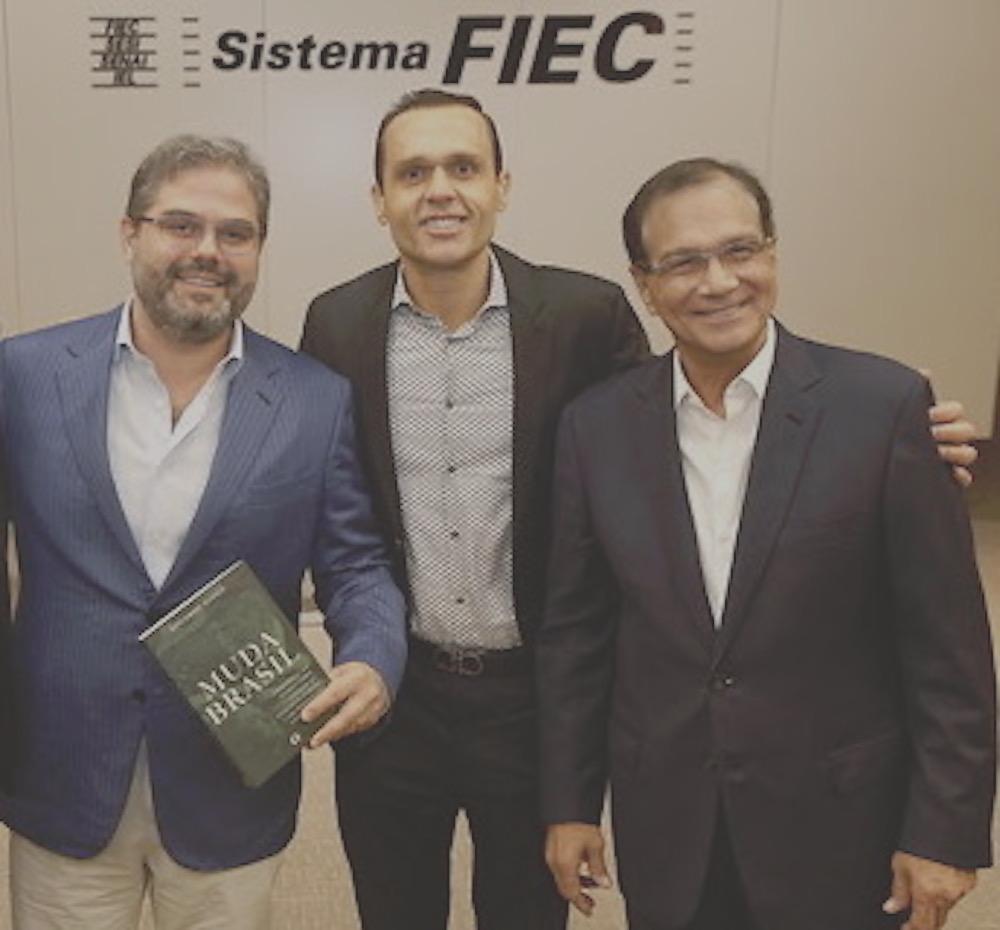 2018 Com O Então Presidente Da Fiec Beto Studat E O Empresário Edson Queiroz Neto, Por Ocasião Do Lançamento Do Livro Muda Brasil Na Fiec