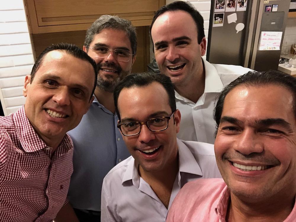 2018 Com Os Amigps Cândido Pinheiro Júnior, Edson Queiroz Neto, Pedro Fiúza E Ivo Machado, Em Recepção Na Casa Do Empresário André Skaf, Em São Paulo